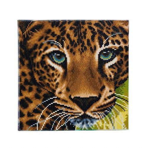 Leopard  30x30cm Crystal Art Kit